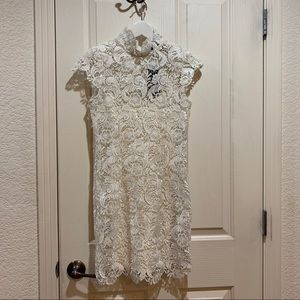 Blaque Label Lace Dress NWT White XS Short Sexy